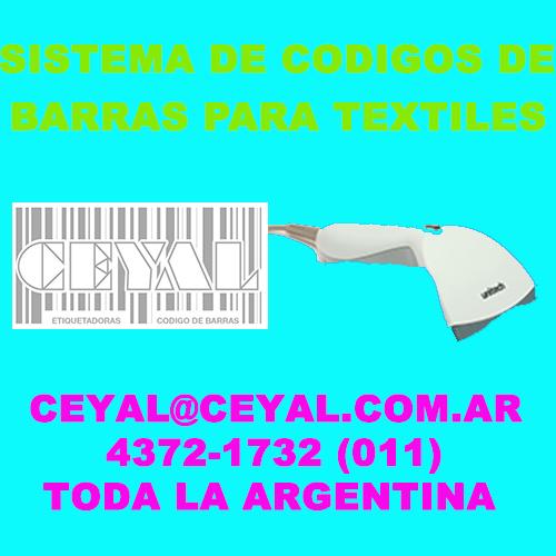 etiquetadora de codigos de barras Buenos Aires 1 provincia de Salta Enviamos por expresos