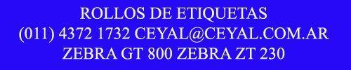 Thumbnail de Codigos de barras Zebra 420 t gc zm-400 Consulta precio