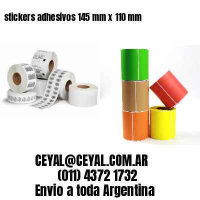 stickers adhesivos 145 mm x 110 mm
