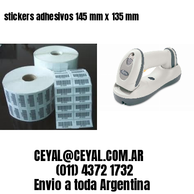 stickers adhesivos 145 mm x 135 mm