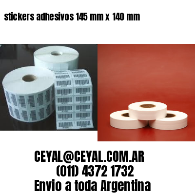 stickers adhesivos 145 mm x 140 mm