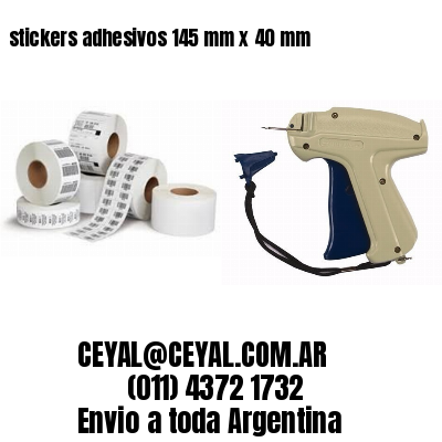 stickers adhesivos 145 mm x 40 mm