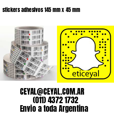 stickers adhesivos 145 mm x 45 mm