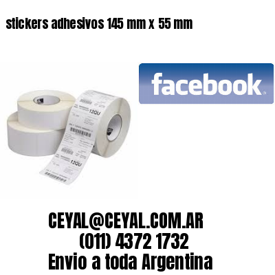 stickers adhesivos 145 mm x 55 mm
