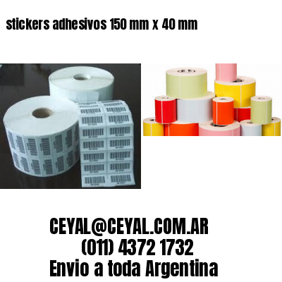 stickers adhesivos 150 mm x 40 mm