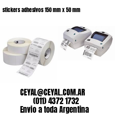stickers adhesivos 150 mm x 50 mm