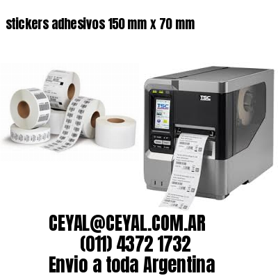 stickers adhesivos 150 mm x 70 mm