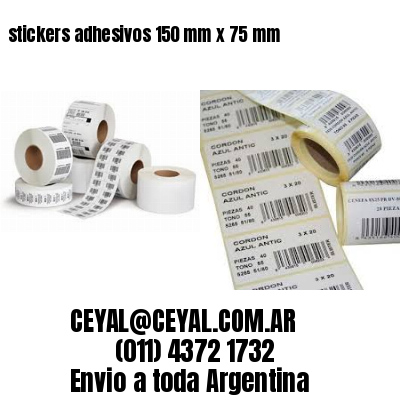 stickers adhesivos 150 mm x 75 mm