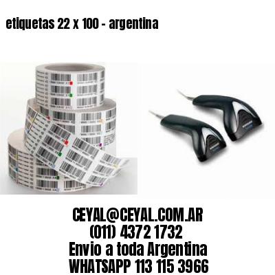 etiquetas 22 x 100 - argentina