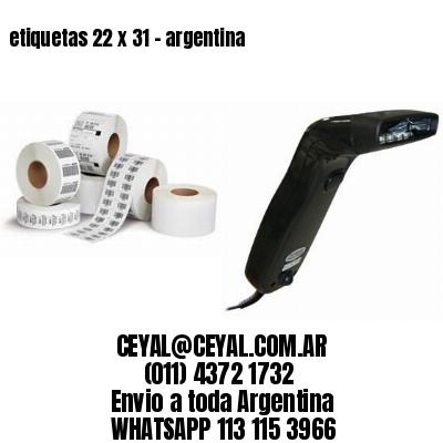 etiquetas 22 x 31 - argentina