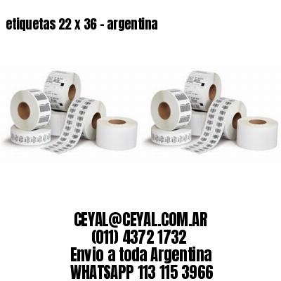 etiquetas 22 x 36 - argentina