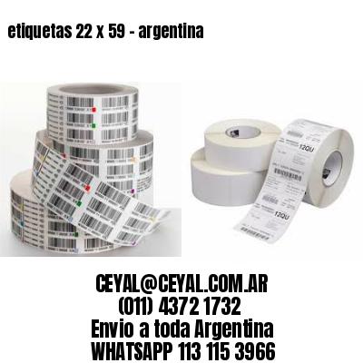 etiquetas 22 x 59 - argentina