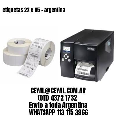 etiquetas 22 x 65 - argentina