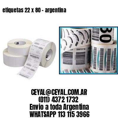 etiquetas 22 x 80 - argentina