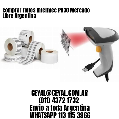 comprar rollos Intermec PA30 Mercado Libre Argentina