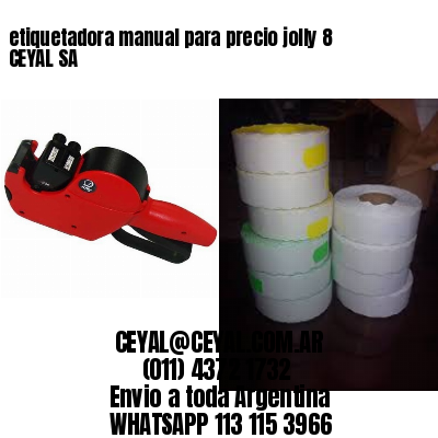 etiquetadora manual para precio jolly 8 CEYAL SA