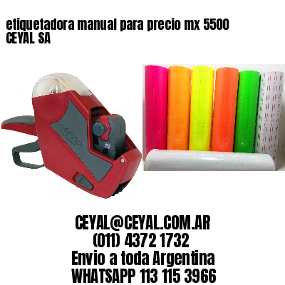 etiquetadora manual para precio mx 5500 CEYAL SA