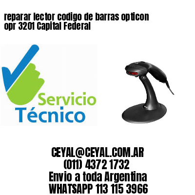 reparar lector codigo de barras opticon opr 3201 Capital Federal