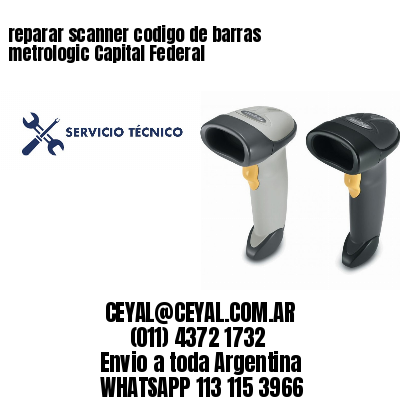 reparar scanner codigo de barras metrologic Capital Federal