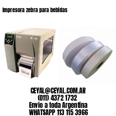 Impresora zebra para bebidas
