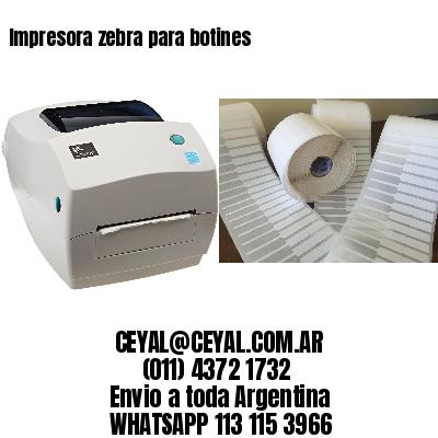 Impresora zebra para botines