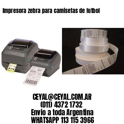 Impresora zebra para camisetas de futbol