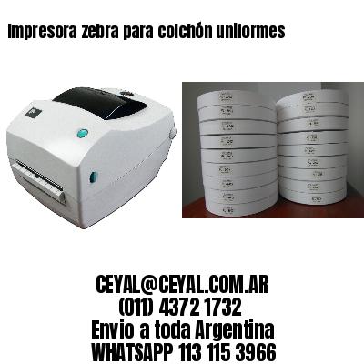 Impresora zebra para colchón uniformes