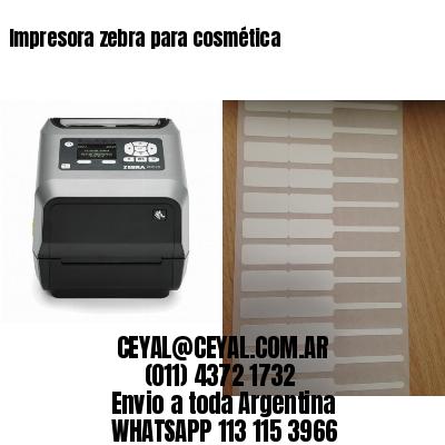 Impresora zebra para cosmética