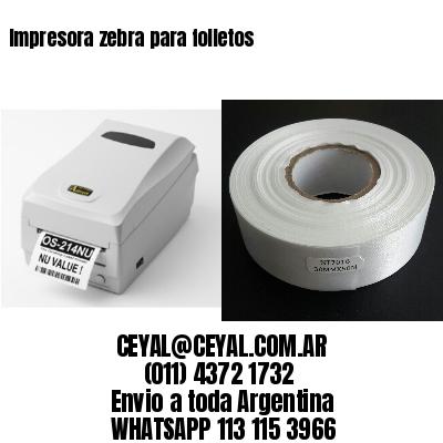 Impresora zebra para folletos