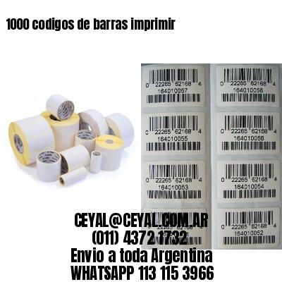 1000 codigos de barras imprimir