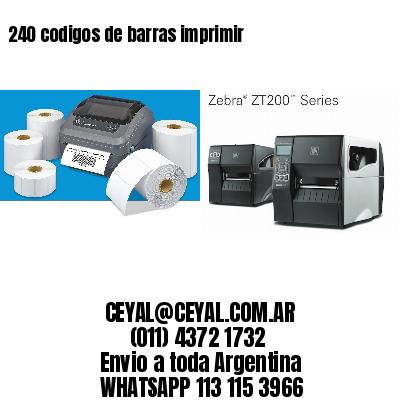 240 codigos de barras imprimir