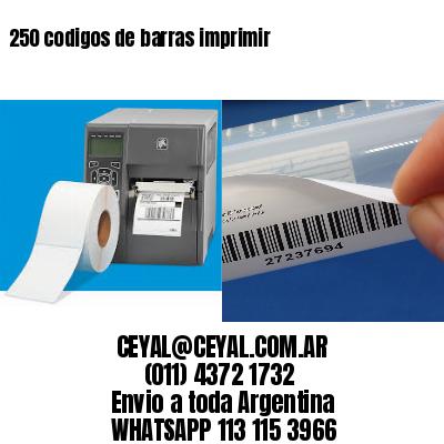 250 codigos de barras imprimir