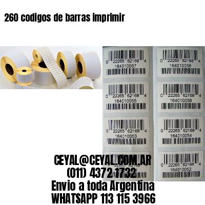 260 codigos de barras imprimir