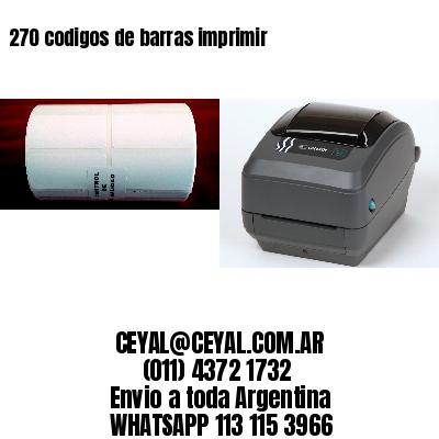 270 codigos de barras imprimir