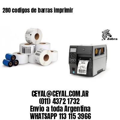 280 codigos de barras imprimir