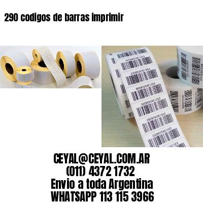 290 codigos de barras imprimir