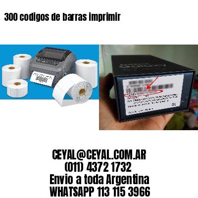 300 codigos de barras imprimir