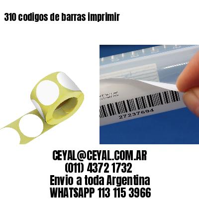 310 codigos de barras imprimir