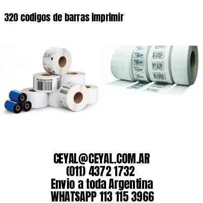 320 codigos de barras imprimir