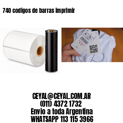 740 codigos de barras imprimir