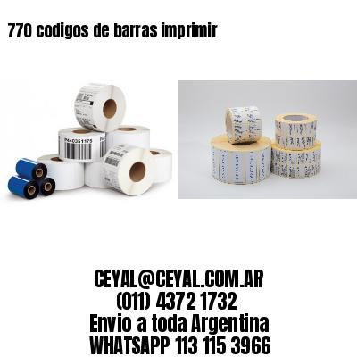 770 codigos de barras imprimir