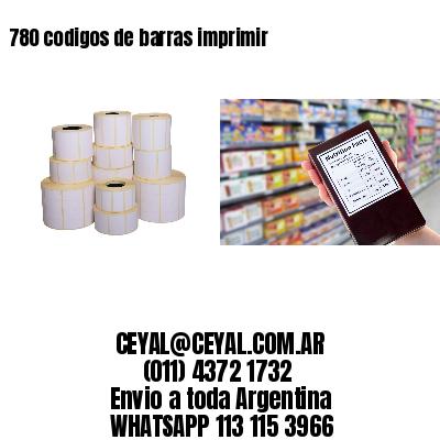 780 codigos de barras imprimir