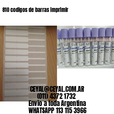 810 codigos de barras imprimir