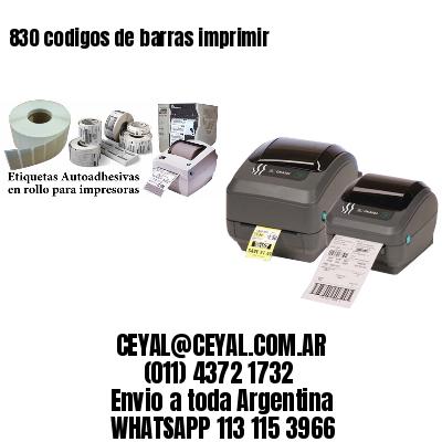 830 codigos de barras imprimir