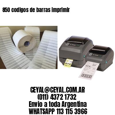 850 codigos de barras imprimir