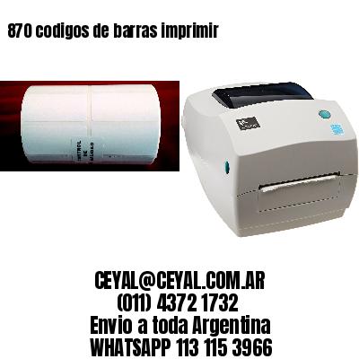 870 codigos de barras imprimir