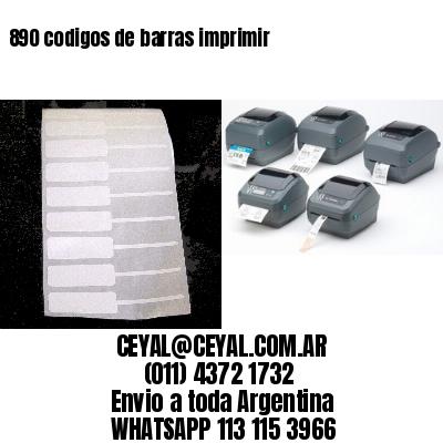 890 codigos de barras imprimir