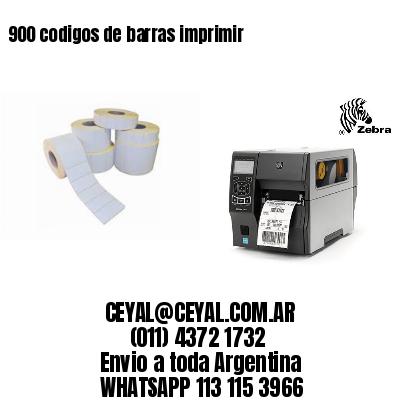 900 codigos de barras imprimir
