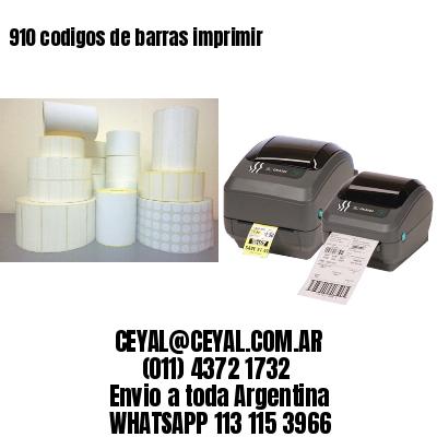 910 codigos de barras imprimir