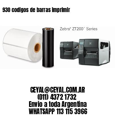 930 codigos de barras imprimir